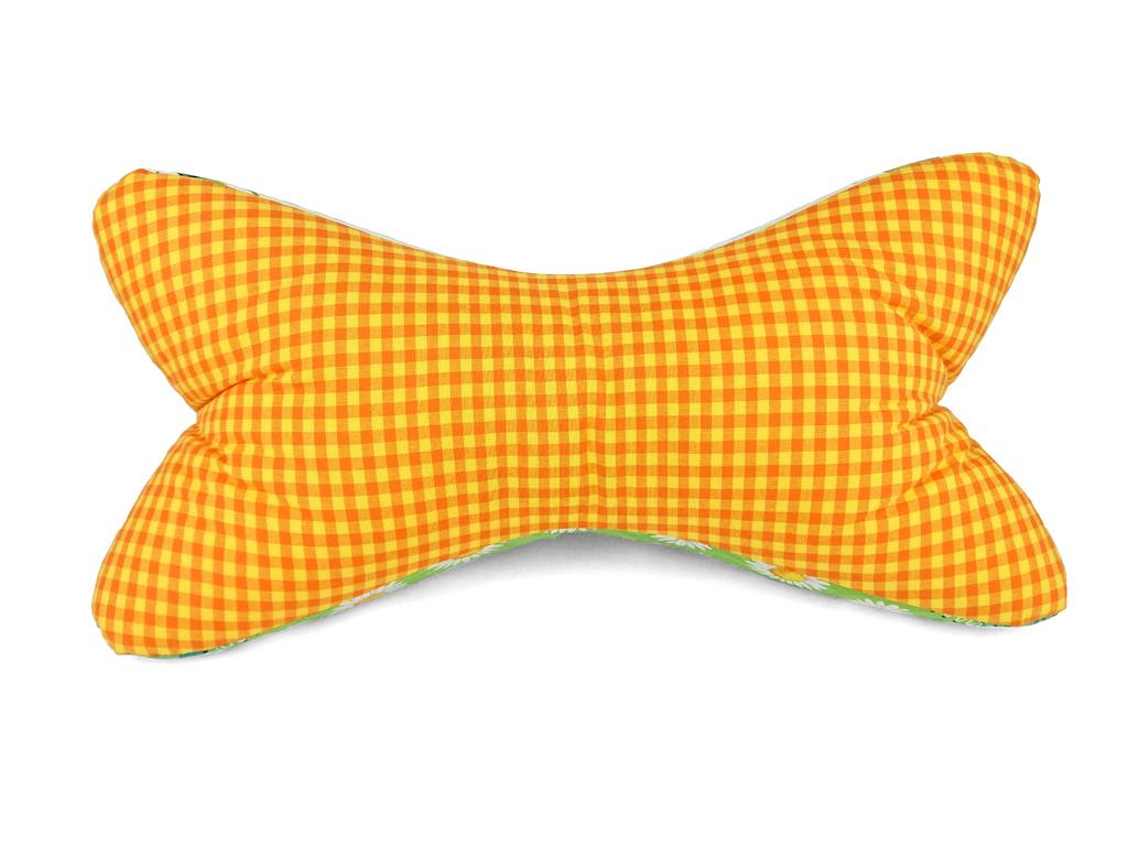 Leseknochen-Froschkönig-Karo-gelb-orange-Vorderseite