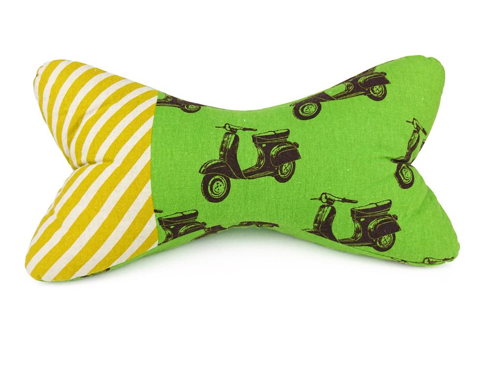 Leseknochen-Motorroller-grün-gelb-Vorderansicht