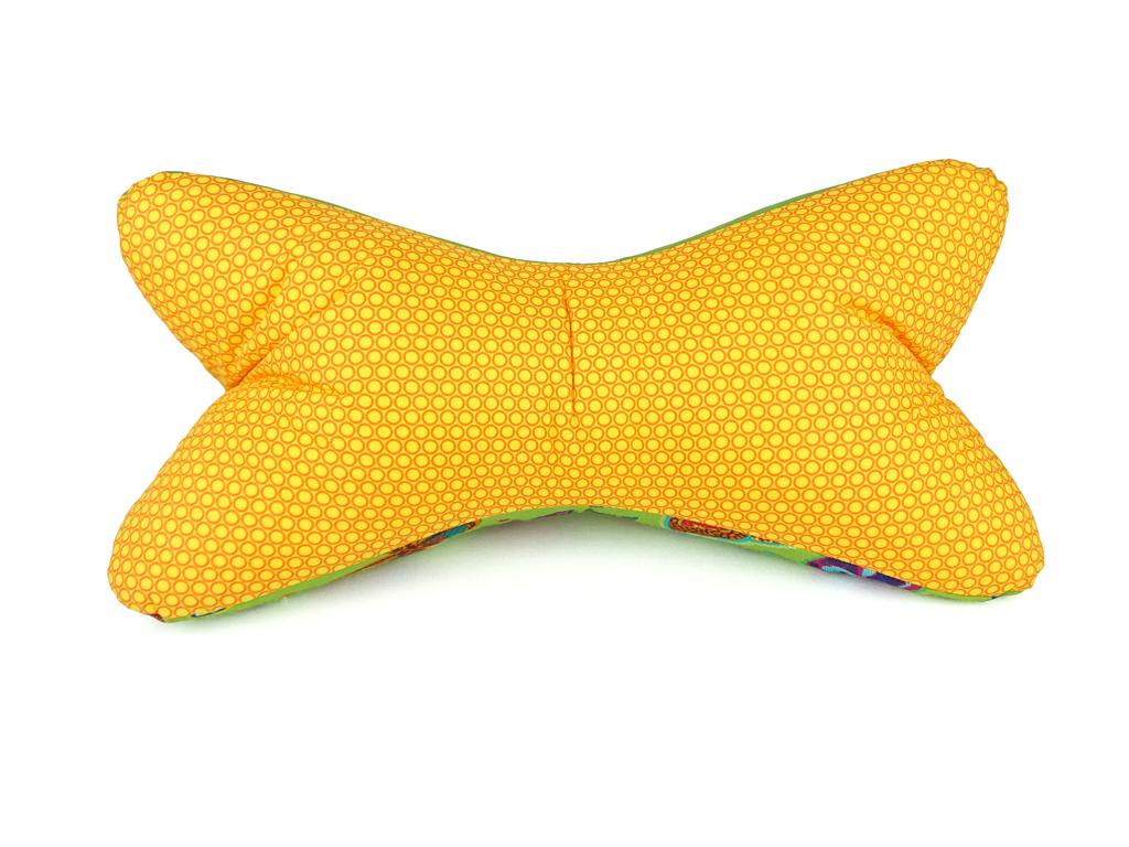 Leseknochen-Schmetterling-gelb-Vorderansicht