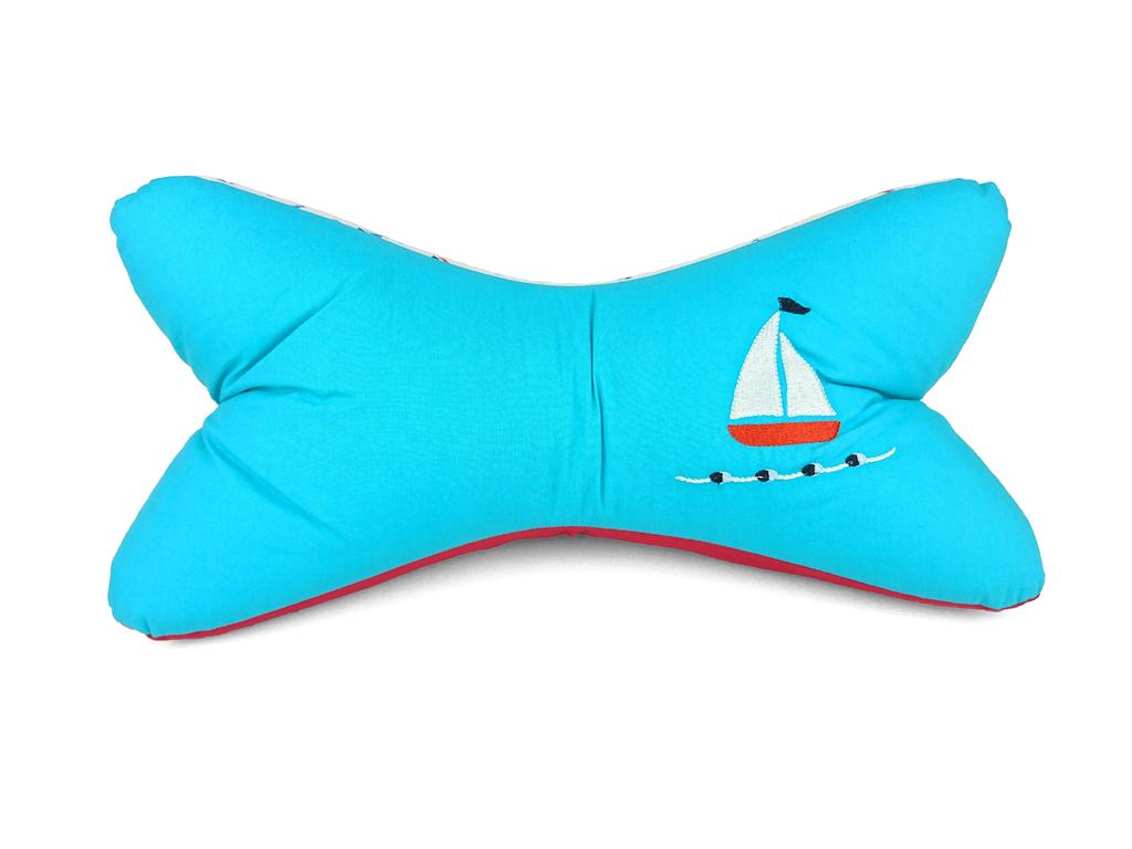 Leseknochen-Segelboot-türkis-Vorderansicht