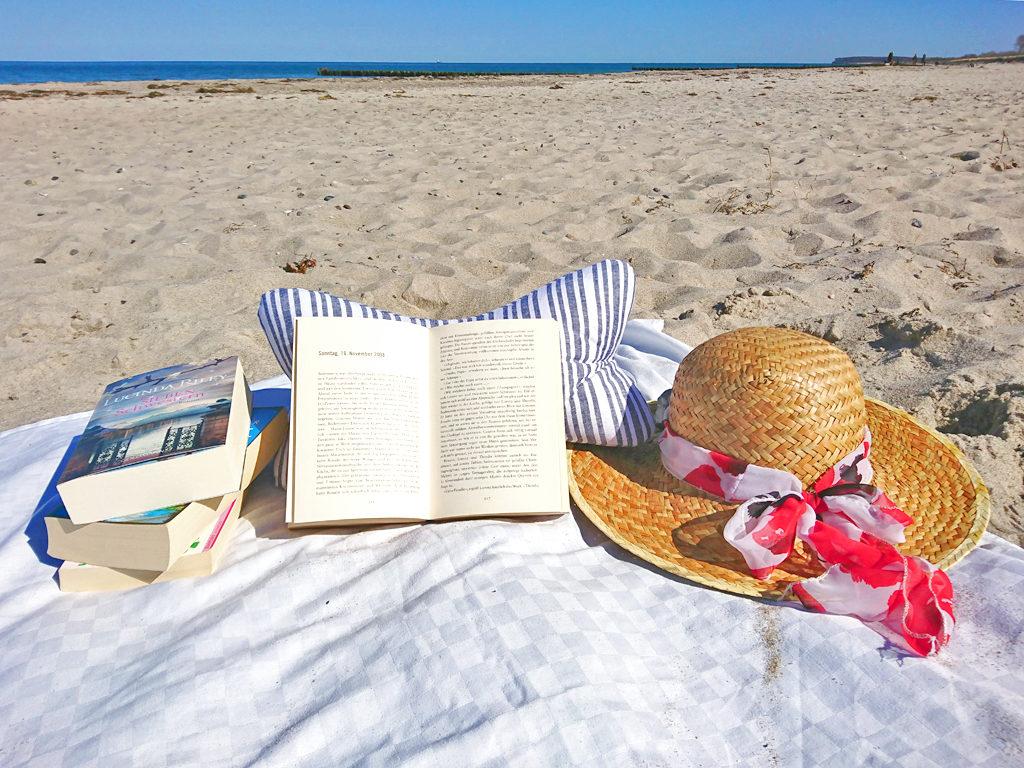 Leseknochen am Strand