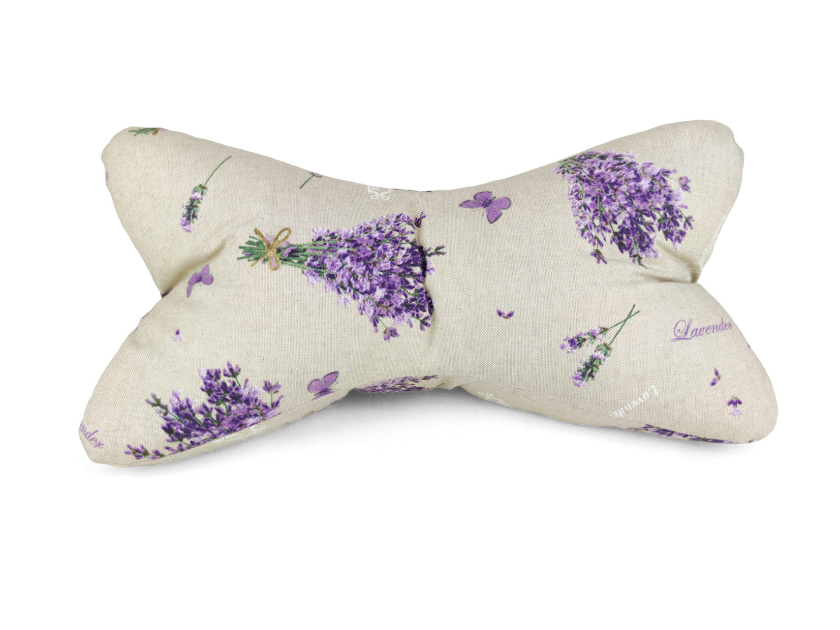 Leseknochen Leinen Look violette Lavendelsträuße