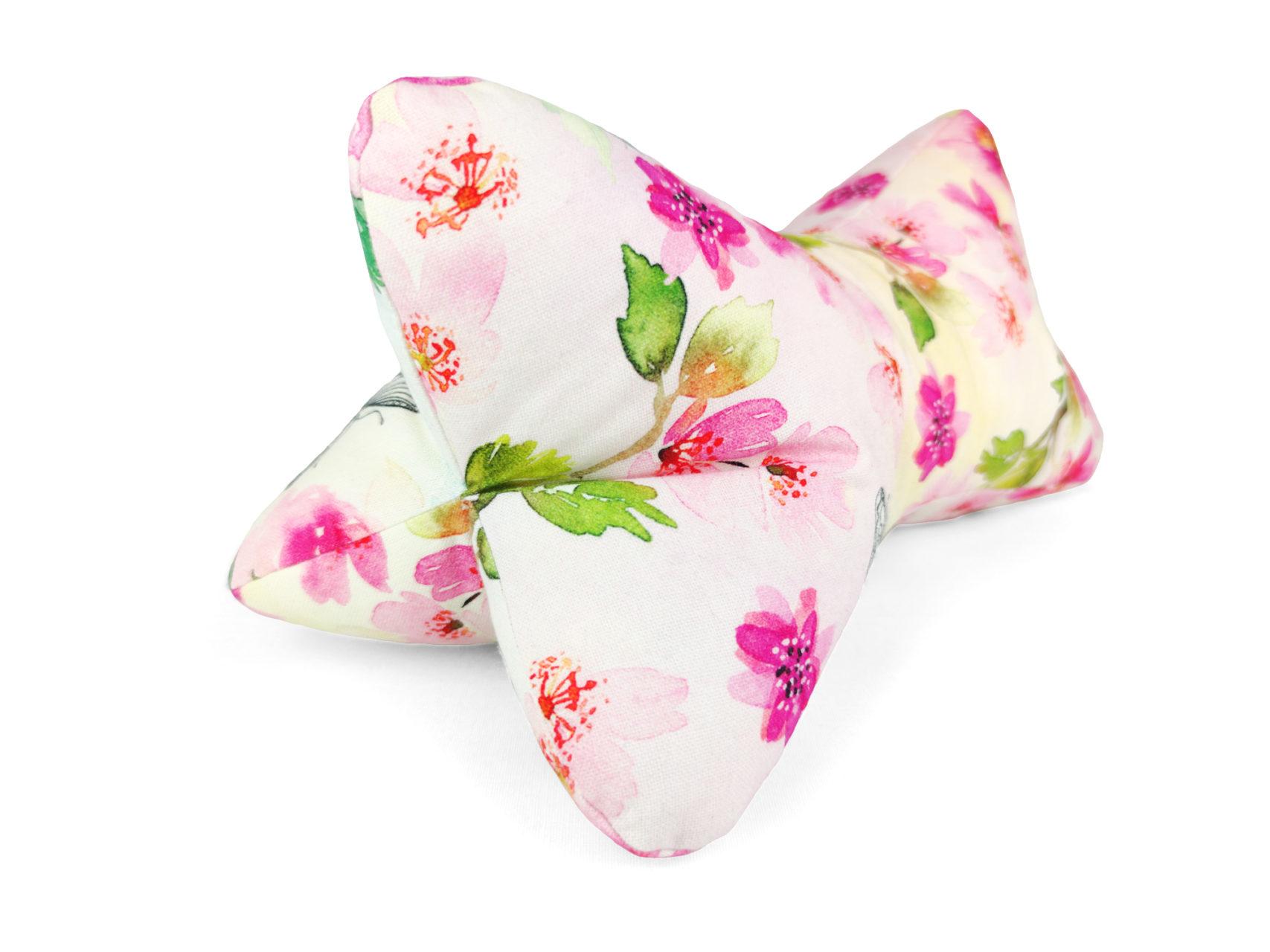 Leseknochen pink flowers rosa Blumen Schmetterlinge