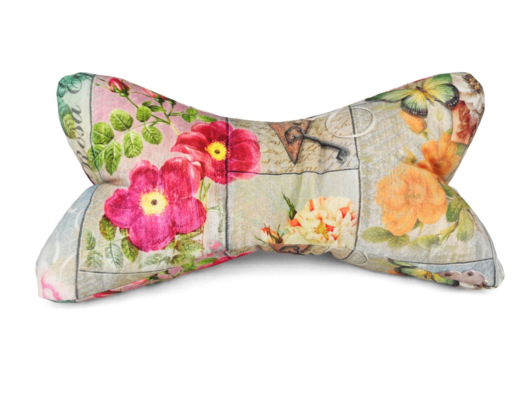 Leseknochen summer gardening bunte Blumen Vintage Style