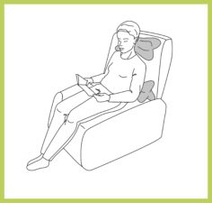 Anwendung Leseknochen Rückenkissen