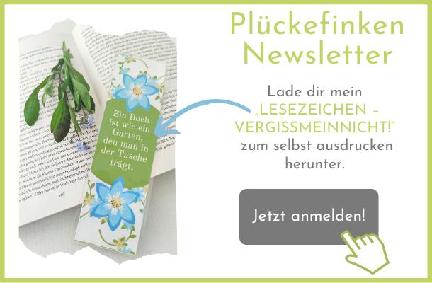 Plückefinken Leseknochen Newsletter