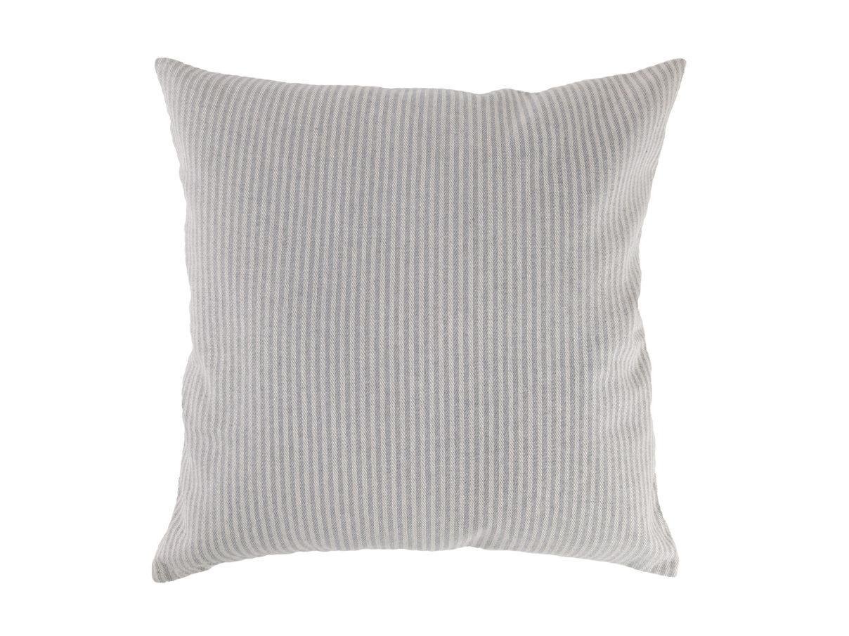 Kissenbezug 40×40 – Streifen grau