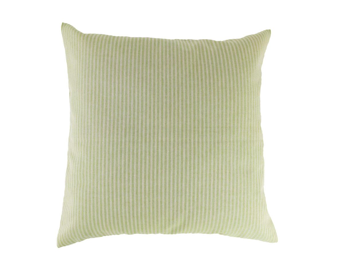 Kissenbezug 40×40 – Streifen hellgrün