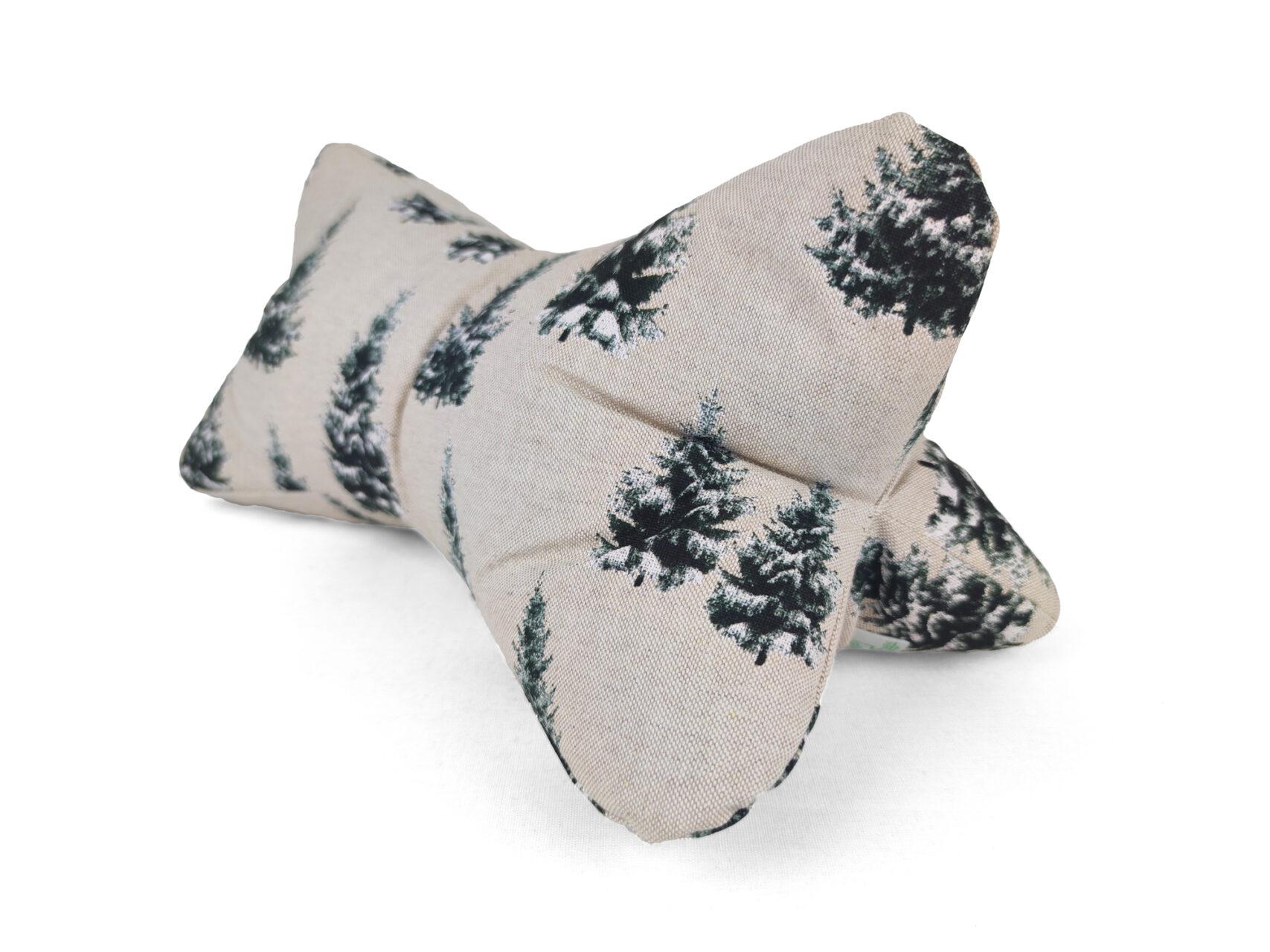 Leseknochen-Tannenbäume-beige-schwarz