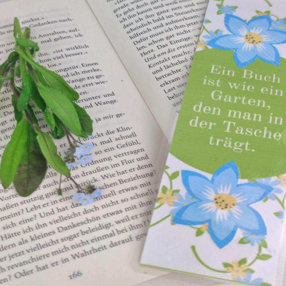 Quer-Foto-Lesezeichen-Blume